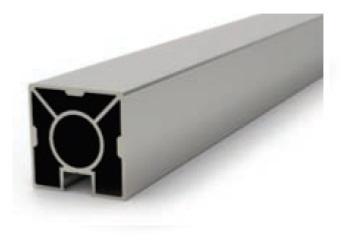 Poteau aluminium nu de 40x40 mm - H 945 mm | Garde Corps | SURAL-France