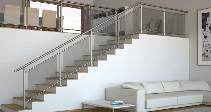 garde corps verre l gant plus round line sural france. Black Bedroom Furniture Sets. Home Design Ideas