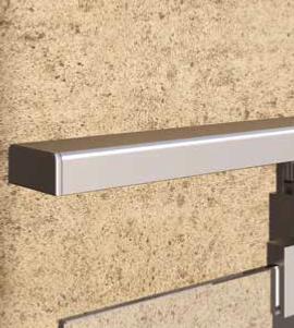embout de finition pour main courante alu 25x60 mm garde. Black Bedroom Furniture Sets. Home Design Ideas